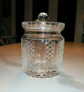 Waterford Crystal Biscuit Jar With Lid 6 Tall