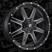 24x10 Et1 Fuel D538 Maverick 6x135/6x139.7 Black Milled Rims Set Of 4