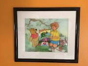 Disney Winnie-the-pooh Christopher Robin Original Picture Cell Limited Rare
