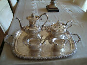 Sheffield England Complete Set For Tea And Coffee Silver Plated