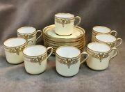 8 Copelands England Jewelled Porcelain Cup And Saucer Set For Burley And Co Chicago