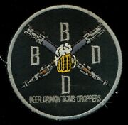 Usaf Tacp Bdbd Beer Drinking Bomb Droppin Patch T-2