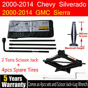 For Chevy Gmc Spare Tire Tool Kit W/ Carry Case And Scissor Jack 2t Speed Handle