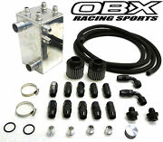 Obx Racing Oil Catch Can Breather Kit For Turbo Acura B16 And B18 Engine