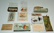 Lot Of Vintage Lures, Nos, Actual Lure/burke's/handi/bass Boss/four Rivers And More