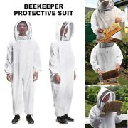 White Beekeeping Protective Equipment Veil Bee Keeping Full Body Suit Hats L-xxl