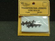 Micro Engineering 26-001 Transition Rail Joiner Code 100 To 83