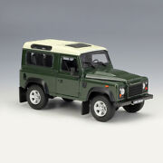 Car Model Land Rover Defender Green 124 Scale Diecast Models Collectibles