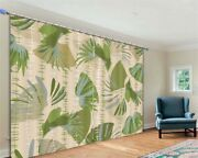 Rotating Leaves Grey 3d Curtain Blockout Photo Printing Curtains Drape Fabric