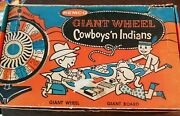 1958 Remco Vintage Cowboys And Indians Giant Wheel Board Game