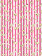 Clarence House Dogs Dice Stripes Toile Fabric 10 Yards Raspberry