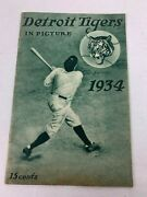 1934 Detroit Tigers In Picture Yearbook Al Champions Nice