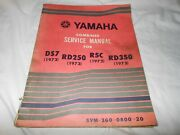 Oem Yamaha Ds7 Rd250 R5c Rd350 Combined Service Manual Lit-11613-60-20