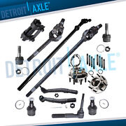 13pc Front U-joint Axle Shafts Kit For 05-10 Ford F-250 F-350 4wd Dana 60 Srw