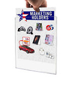Sign Holder Tru-vu® Clear Display Letter Size 8.5 X 11 Wall Mount Load Qty 50