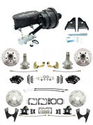 1964-72 Chevelle El Camino Wilwood Front And Rear Disc Brake Kit 2 Drop Spindle