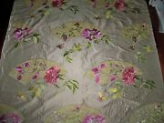Lee Jofa Kravet Chinoiserie Fans Peony Embroiderey Applique Silk Fabric 10 Yards