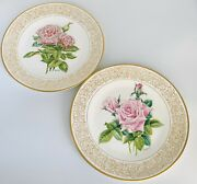 2 Porcelain Plates The Edward Marshall Boehm Rose Plate Collection Limited Issue