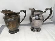Lot 2 Silverplate Pitchers Wm Rogers Fenwick Water Pitcher 8andrdquo Silver Plated