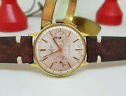 Vintage Breitling Chronograph Silver Dial Gp Manual Wind Manand039s Watch