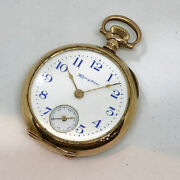 Pre-owned Pocket Watch 1900 Manual-wind Watch Features 32mm 14k Gold Case