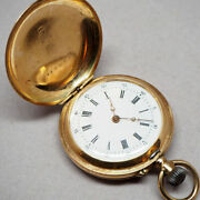 Pre-owned Pocket Watch Cylindre 10 Rubis Pocket Watch 1900 Manual-wind Watch