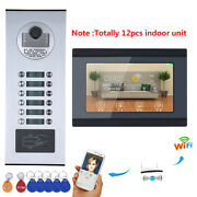 7inch Record Wired Wifi 12 Apartment/family Video Door Phone Intercom System