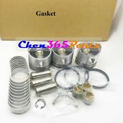 Std Engine Rebuild Kits Piston And Rings And Bearing And Full Gasket For Yanmar 3d94-2