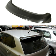 Carbon Fiber Rear Roof Spoiler Boot Wing Fit For Vw Volkswagon Polo 2013-2017
