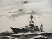 Gordon Grant - Uss Chester - Original Aaa Lithograph - Signed - Free Ship Us