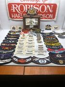 Allotment Of Harley-davidson H.o.g. Life Member Collection- Pins, Patches, Knife