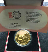 1990 Singapore Anniversary Medal 24k Gold Plated + Free 1 Coind8309