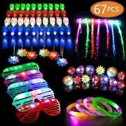 67 Pcs Led Light Up Toys Party Favors Glow In The Dark Party Supplies