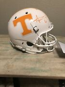 Alvin Kamara Signed Tennessee Volunteers Schutt Full Size White Ncaa Helmet