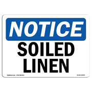 Osha Notice - Soiled Linen Sign | Heavy Duty Sign Or Label
