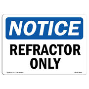 Osha Notice - Refractor Only Sign | Heavy Duty Sign Or Label