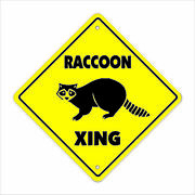 Raccoon Crossing Decal Zone Xing Animals Coon Hunter Hunting Wild Collectible