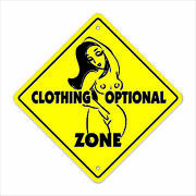 Clothing Optional Crossing Decal Zone Xing Tall Pool Swim Supplies Nude