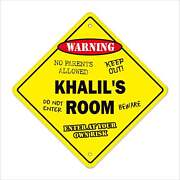 Khaliland039s Room Decal Crossing Xing Kids Bedroom Door Childrenand039s Name Boy Girl