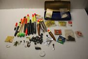 Misc Fishing Lot Tackle Hook Lead Weight Rubber Mepps Floats Bobber