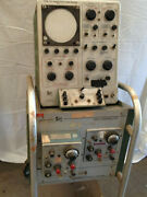 Tektronix Type 575 Transistor-curve Tracer And Type 53 Scope-mobile Panel W/ Cart