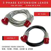 All 3 Phase Extension Lead 16a-32a 400v Extension Lead 4 Pin-5 Pin Hook Up Lead