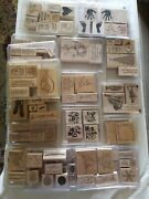 Stampin' Up Various Stamps Lot 19 Kitts 105 Stamps Unused And Lightly Used