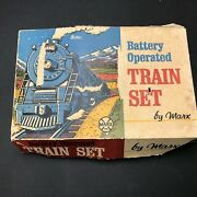 Marx Key Operated Train Set 1969 Engine Tender And Two Cars Not Battery Operated