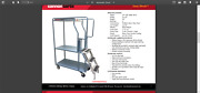 Cannon Easy Stock Stocking Cart Pull Push W Aluminum Ladder Steps And Foot Brake