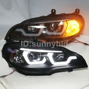 2007 To 2011 Year Led Angel Eyes Lamps For Bmw E70 X5 Led Headlights Black Jx