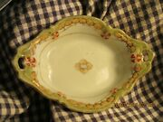 Nippon- Blue Rising Sun-7 2 Handled Dish-olive Green, Tan And Rust-vintage