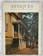 Antiques Magazine March 1967 Balcony Of The Owens-thomas House Cover