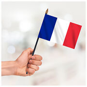 France Hand Waving Flag Table Desk Display Country Small Handheld Flag +hardware