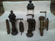Pair Vintage Railway Train Carriage Wall Candle Light Lamps